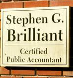 signage of brilliant accounting firm in hillsborough new jersey